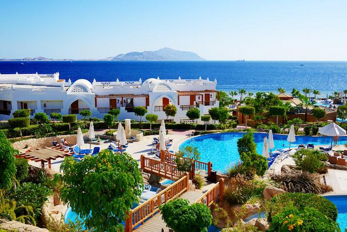 Consider Sharm-El-Sheik for an affordable honeymoon getaway.