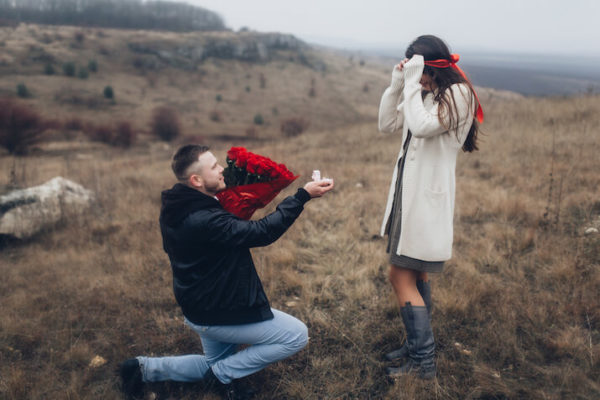 Which knee is the best for a marriage proposal?